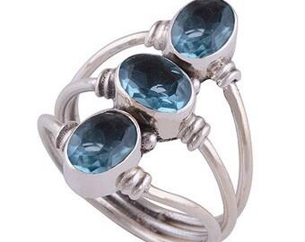 Blue Topaz sterling silver
