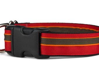 """Outback Dog Collar,red,orange, brown, adjustable, beagle,aussie,mutt,3/4"""",1"""",1.5"""""""