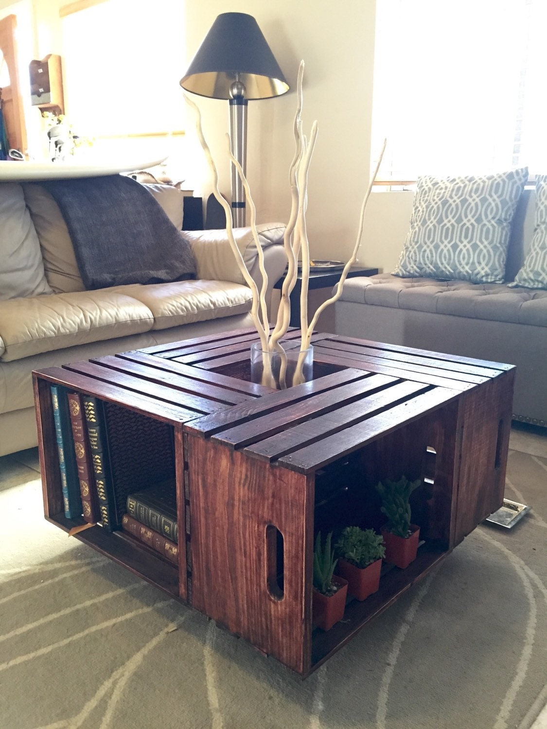 crate coffee table shipping included. Black Bedroom Furniture Sets. Home Design Ideas