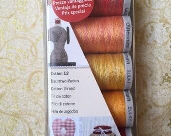 Gutermann Sulky machine embroidery thread
