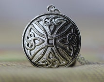 antique silver Celtic Infinity inspired Cremation Urn Pendant Necklace Christmas gifts