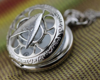 antique silver Star Trek Next Generation Communicator Badge Necklace jewelry mens pocket watch necklace jewelry Christmas gifts