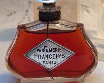 Francelys, Parfumerie Francelys, 30 ml. or 1 oz. Flacon, Pure Parfum Extrait, 1932, Paris, France ..