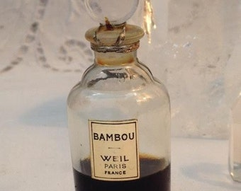 Weil, Bambou, 15 ml. or 0.5 oz. Flacon, 1930, Pure Parfum Extrait, Paris, France ..