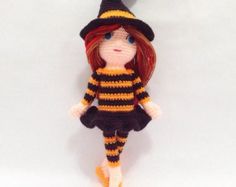 PATTERN - Halloween Ballerina - Crochet Pattern, pdf