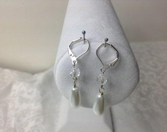 Bridal Pearl Earrings, bridesmaid drop Earrings, Pearl Bridal Earrings, Bridal jewelry, Wedding Jewelry, Bridesmaid gifts