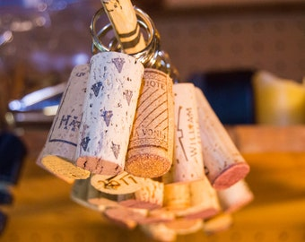 Recycled Wine Cork Keychain