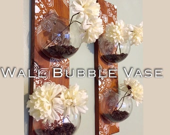Wall Bubble Vase (one row of 2 terrarium)