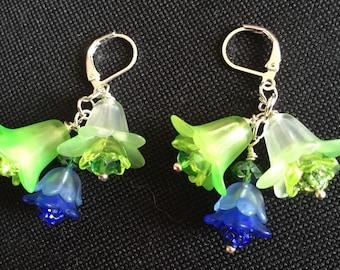Seahawk colored earrings