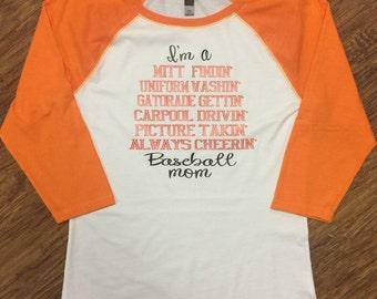 Mitt findin baseball mom shirt