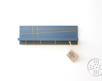 Key Holder for Wall, Key Rack, Wall Shelf With Hooks, Entryway Organizer,