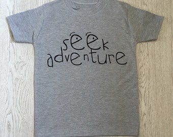 Seek Adventure Kids Tshirt - Kids Fashion - Made in UK