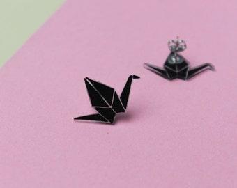 Chips Swan Origami / Earrings Origami Swan