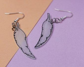 Earrings feather / Feathers Earrings