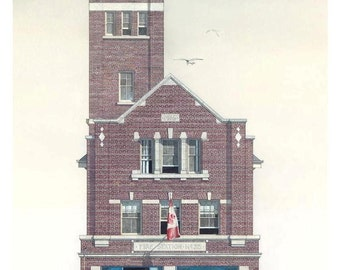 Fireman Card, Hall 25, Hendrick Ave. Toronto // Fire House, Toronto Architecture, Fire Hall, Toronto History, Architect, Engineer, Planner.