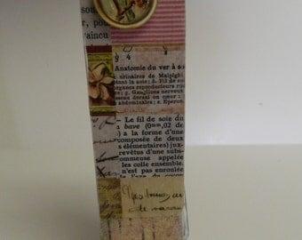 Shabby Chic Clothespin art- Clothespin Art-Shabby Chic-Handmade Mixed Media-Photo holder-Memo holder-Jumbo clothespin- shabby chic decor