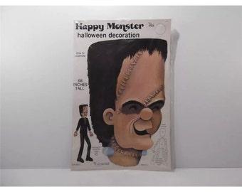 """Vintage Halloween Die Cut Frankenstein - Peck #316-002A Happy Monster Frankenstein 68"""""""
