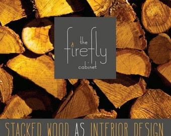 Firewood Storage, Chimney Cabinet - Colonial Black