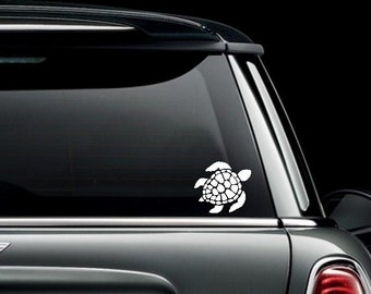 Sea Turtle Custom Car Truck Van Window or Bumper Sticker Vinyl Decal