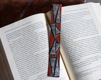 Paper and imitation leather bookmark