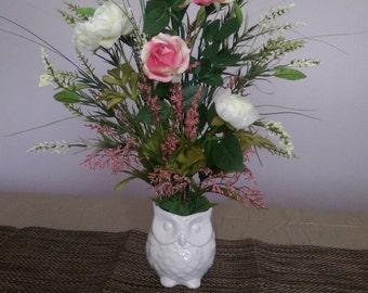 Rose Floral Silk Arrangement by ReneeLyn Creations