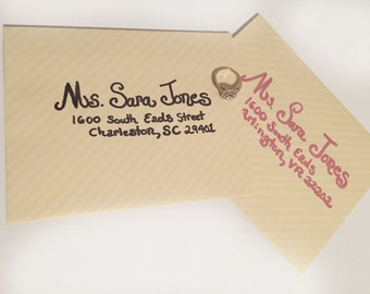 Custom Addressed Wedding and Party Invitations