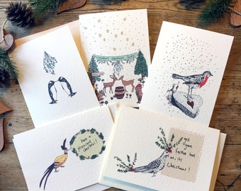Pack of ten Christmas cards