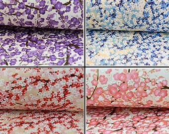 Cherry Blossom Japanese Paper, Washi Paper, Origami Paper, Handmade Paper, Chiyogami, Yuzen