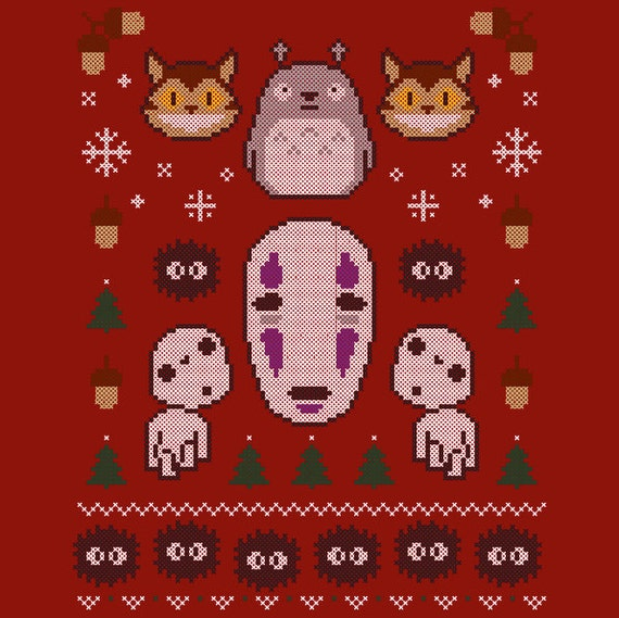 Totoro Ugly Christmas Sweater T-Shirt *FREE SHIPPING*