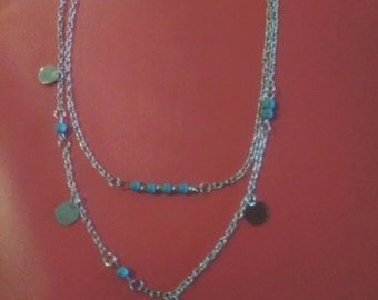 Necklace double rows