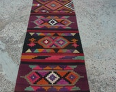 RUG Runner,kilim rug runner,pink runner,hand woven rug runner,old anatolian rug runner,condition good old rug,pink rug,wool rug,Hallway Rugs