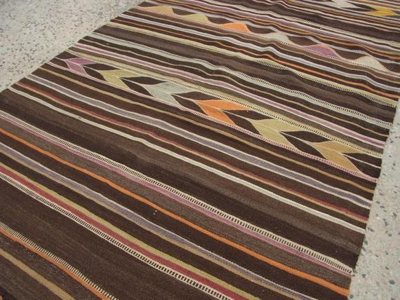 Vintage Kelim Indoor Outdoor Rugs Turkish Style Handwoven Old