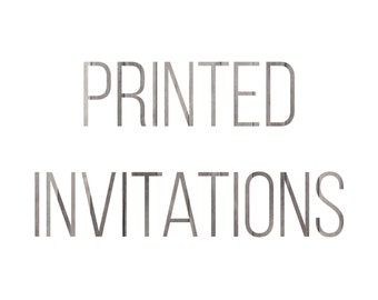 Printed Invitations from Brooksbrotherdesigns
