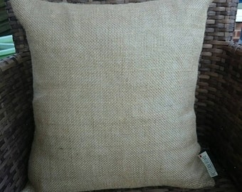 Plain hessian cushion cover