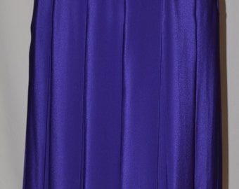 Vintage Purple Maxi Pleated Skirt by Jacques Vert