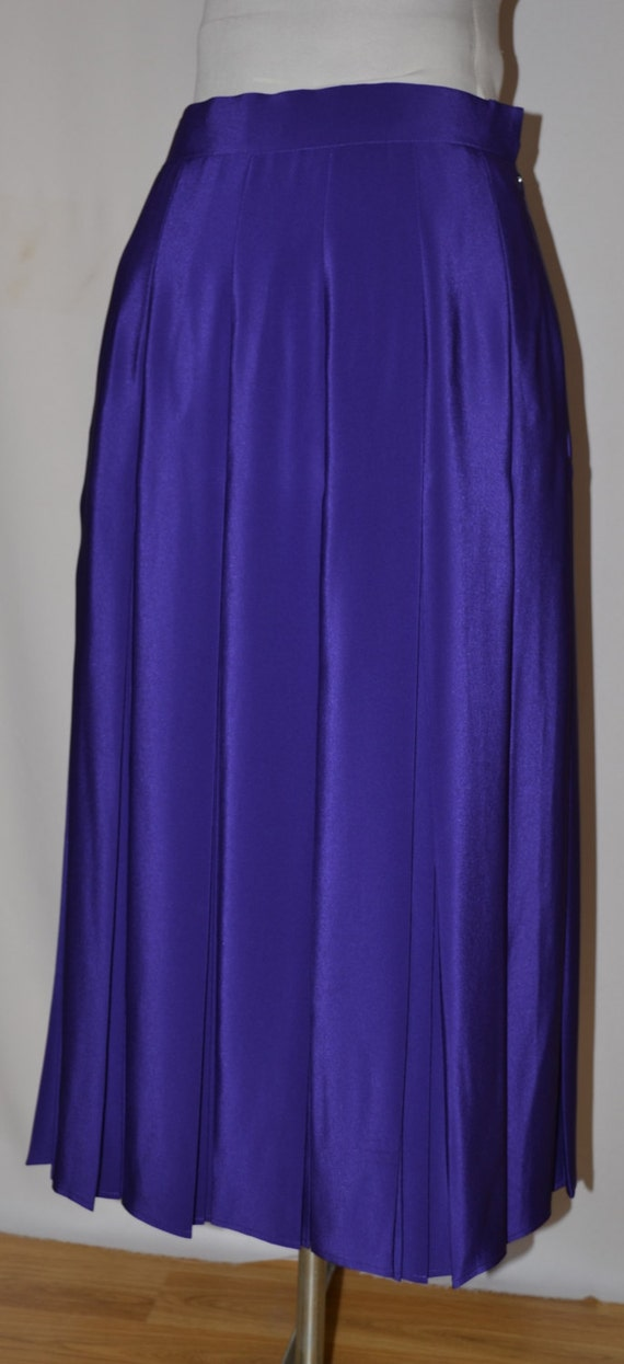 vintage purple maxi pleated skirt by jacques by