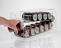 Drinks Can Dispenser - Gravity Fed - Great for the fridge!   Premium acrylic   Made in the UK