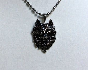 mens wolf necklace etsy