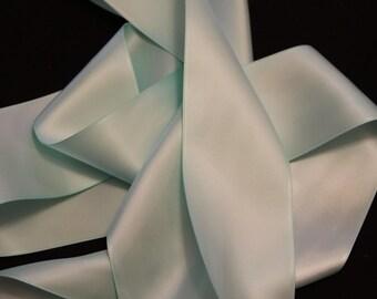 Green Satin Ribbon/Mint Green Satin Ribbon/Mint Green Wedding Dress Sash/Green Bridal Sash/DIY Bridal Belt/Flower Girl Sash/Bridesmaids Sash