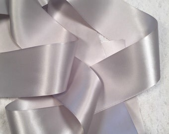 Grey Satin Ribbon/Shell Grey Wedding Dress Sash/Gray Bridal Sash/Flower Girl Sash/Boho Bridal Sash/Country Bridal Belt/Barn Bridal Sash