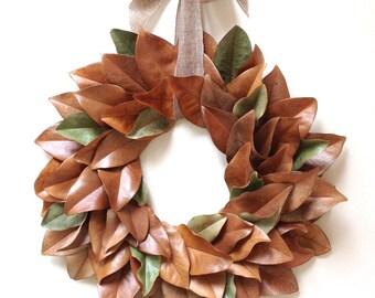 Magnolia Wreath Rich Southern Hues