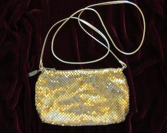 Whiting and Davis Gold Mesh Shoulder Bag