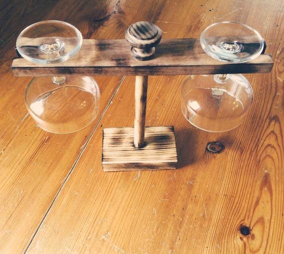 Porta calici da vino bicchieri per aperitivo e degustazioni for Bicchieri in legno