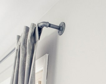 Galvanized Window Curtain Rod, Urban Industrial Chic pipe