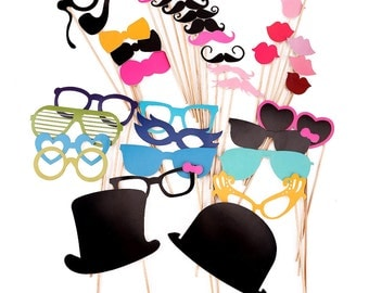 HW652#36 Colorful A Stick Mustache Photo Booth Props Wedding Birthday /Partys/Hen/Stag