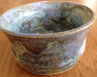 Deep Handmade Blue Ceramic Pottery Serving Bowl / Handmade Serving Bowl/ Handmade/ Colourful Bowl/ Ornamental Bowl/ Tableware/ Nibbles Bowl/