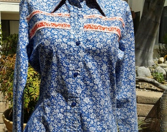 Floral print Rodeo style Button Down Shirt