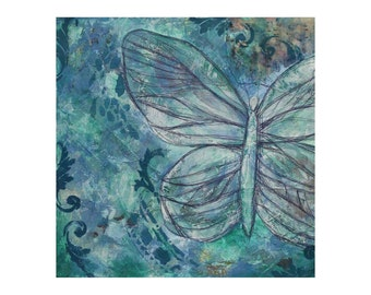 Sew Butterfly - LIMITED EDITION art print of original artwork (A3)