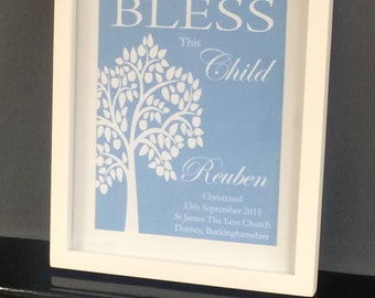 Christening Print - Girl or Boy - Bespoke