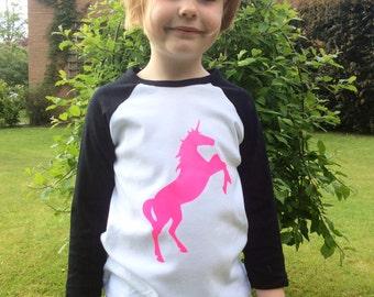 Custom Unicorn T'shirt with name on the back